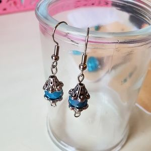 Handmade Glass Luster Beads & Silver Metal Accents